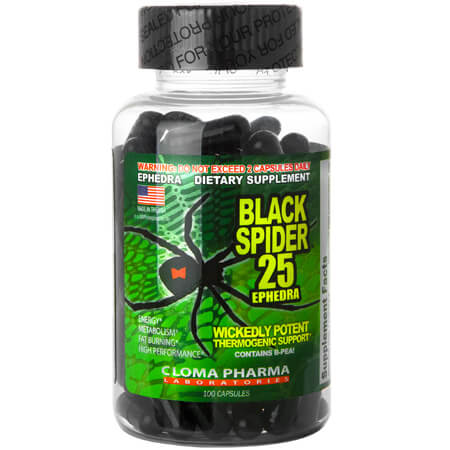 Black Spider ECA Cloma Pharma Ephedra Supplements