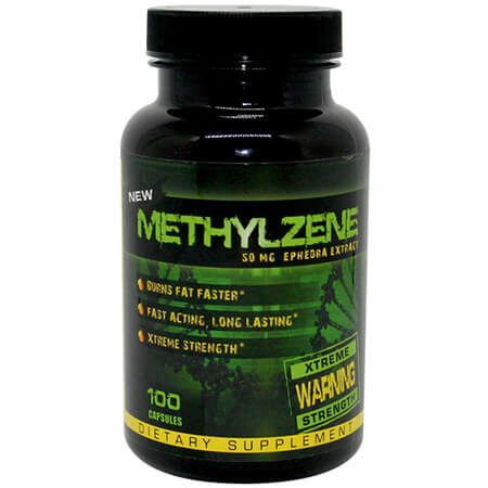 HardRock Supplements Methylzene 50 mg Ephedra ECA Stack, HardRock Supplements Methylzene ECA Stack