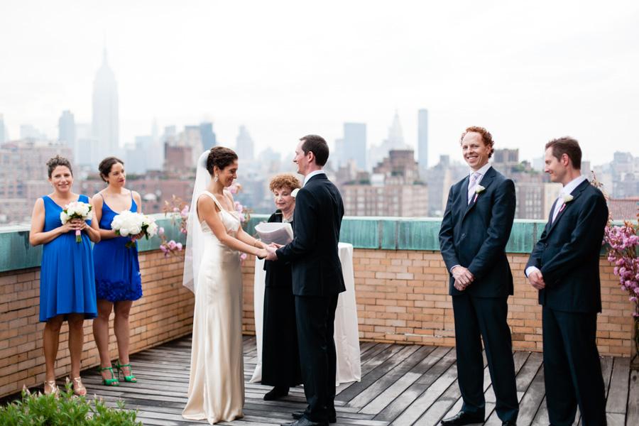 Kate  Pete Ramscale Rooftop Wedding Overlooking