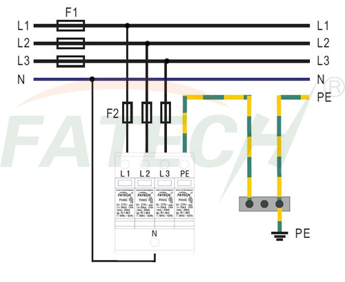 surge arrester wiring diagram kenworth t800 ac 3 phase 37 images fv30b c n protective device 3p