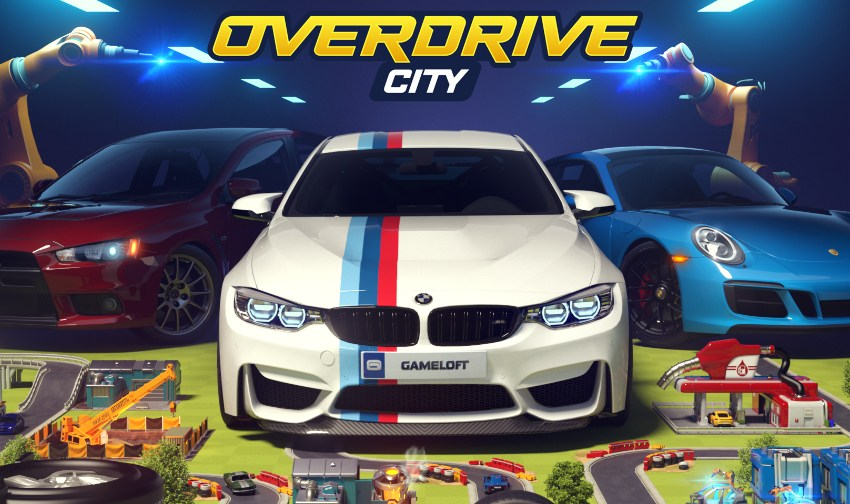 Overdrive City, Gameloft's city building/racing game hybrid, is available for iOS and Android now