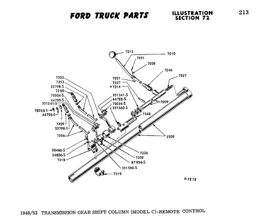 1951 F1 Carburetor Linkage Diagram, 1951, Free Engine