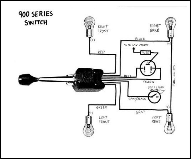 signal stat 900 7 wiring diagram cat 5e vs 6 51 ford truck turn wire - enthusiasts forums