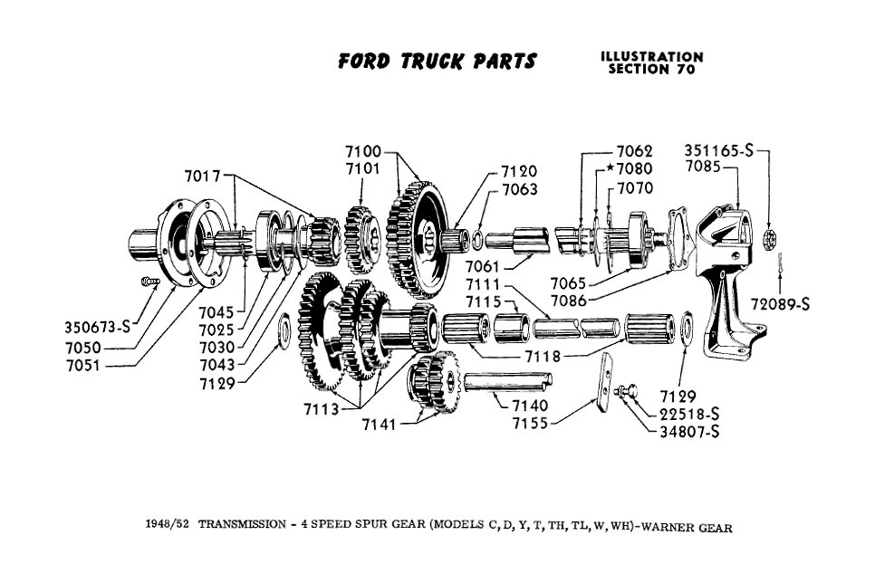 Ford 4speed transmission