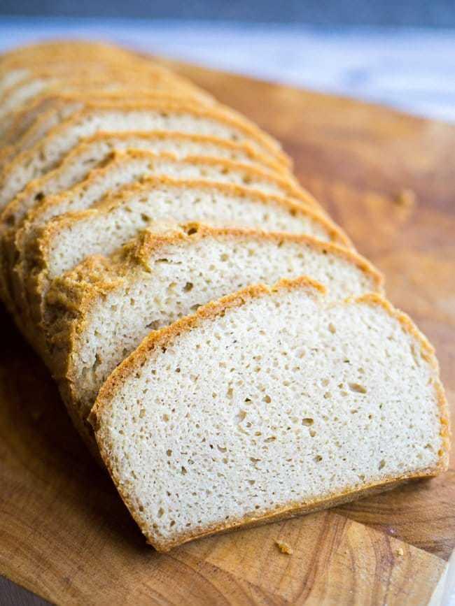 keto bread sliced