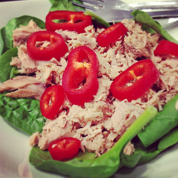 Tuna, Red Pepper & Spinach