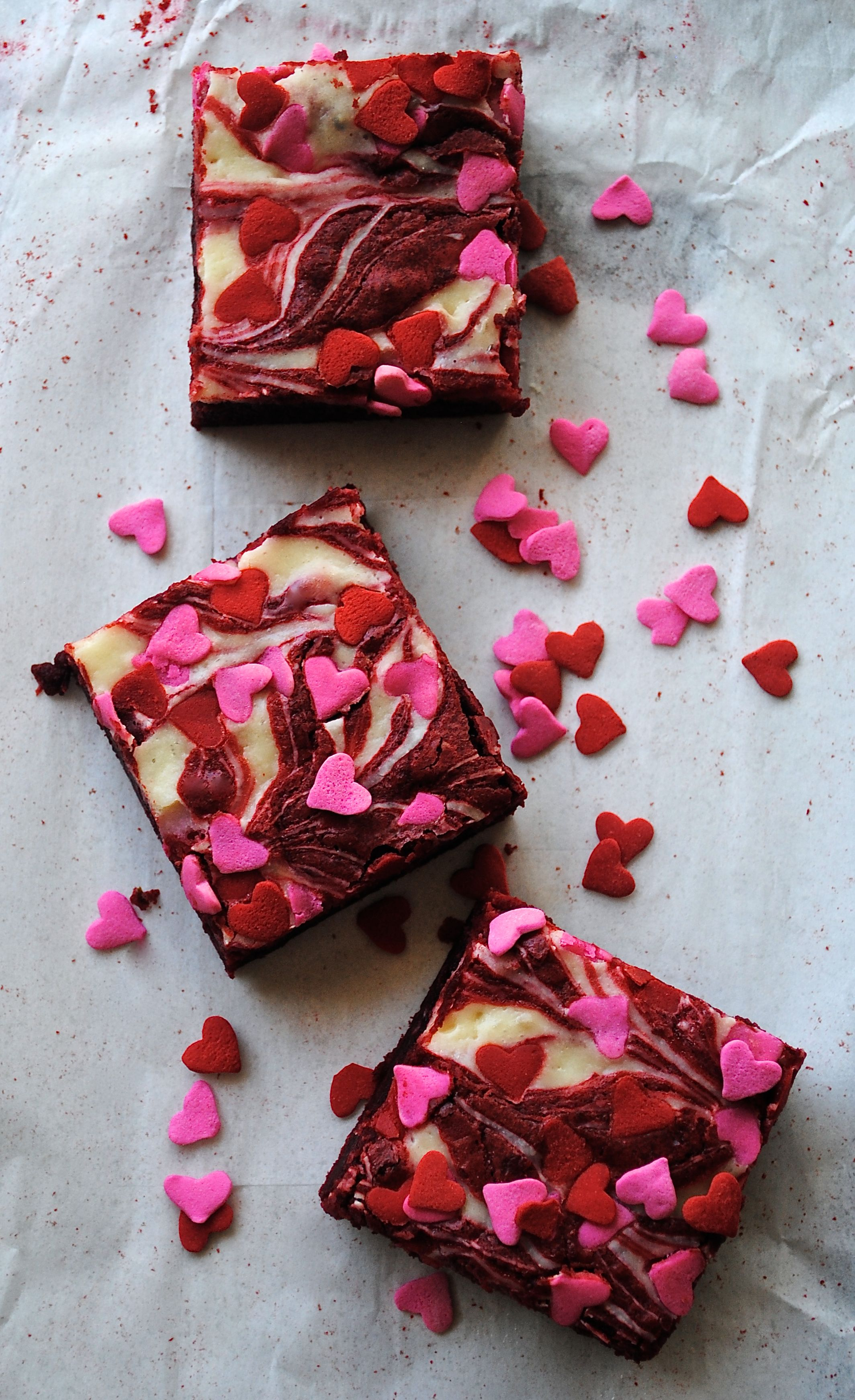 Red Velvet Cream Cheese Swirl Brownies Fat Girl Trapped