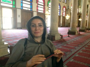 Ghinwa visting the Ummayyad Mosque in Damascus
