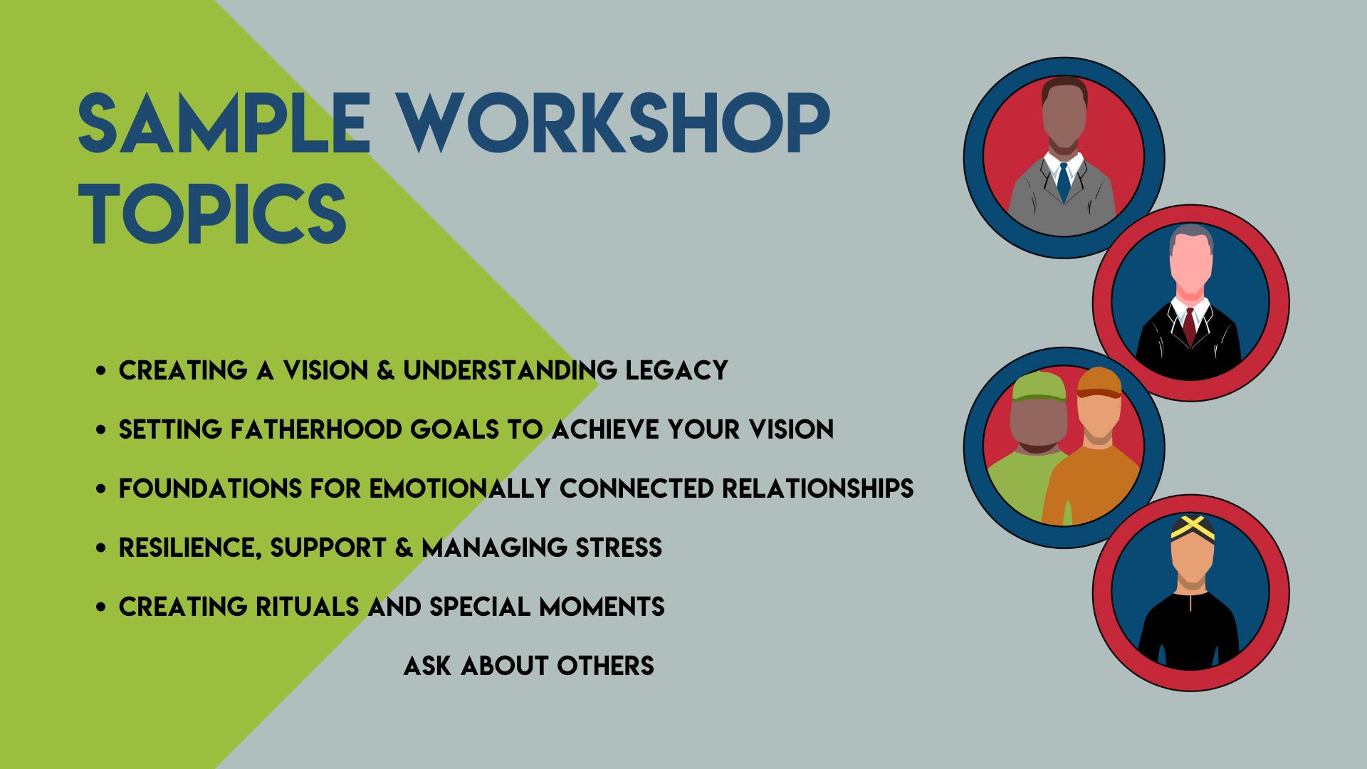 Sample Workshop Topics