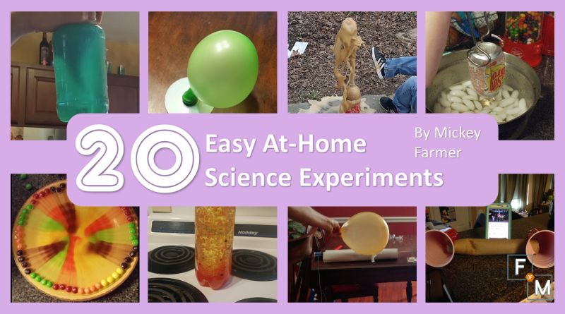 20 Easy At-Home Science Experiments - Fathers of Multiples