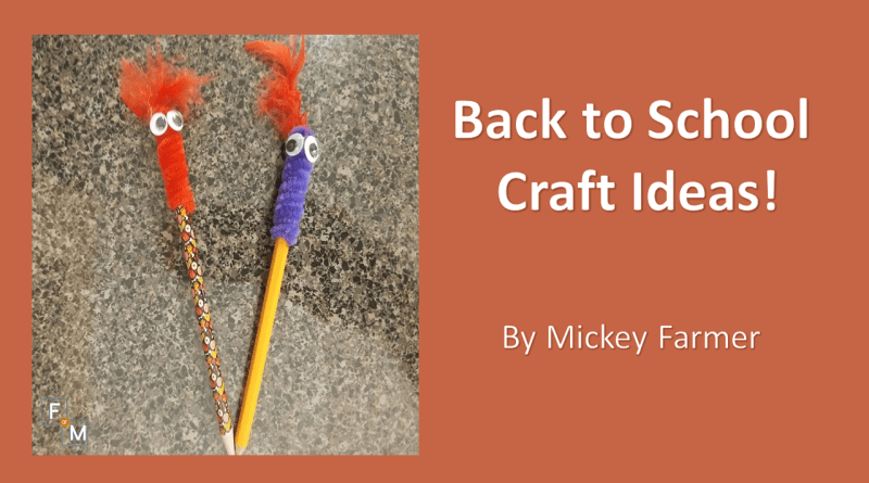 Back to School Crafts - Fathers of Multiples