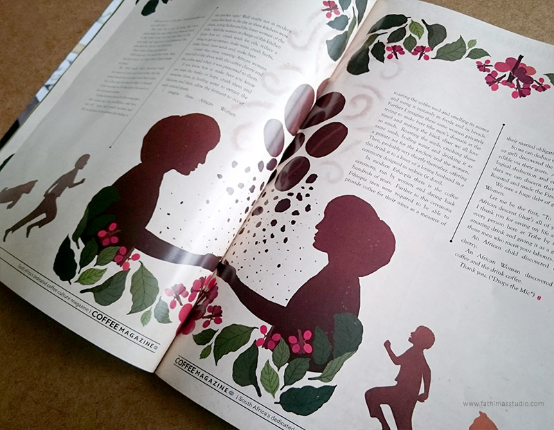 Editorial Illustration for The Coffee Magazine