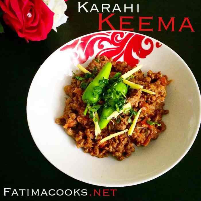 Keema karahi recipe