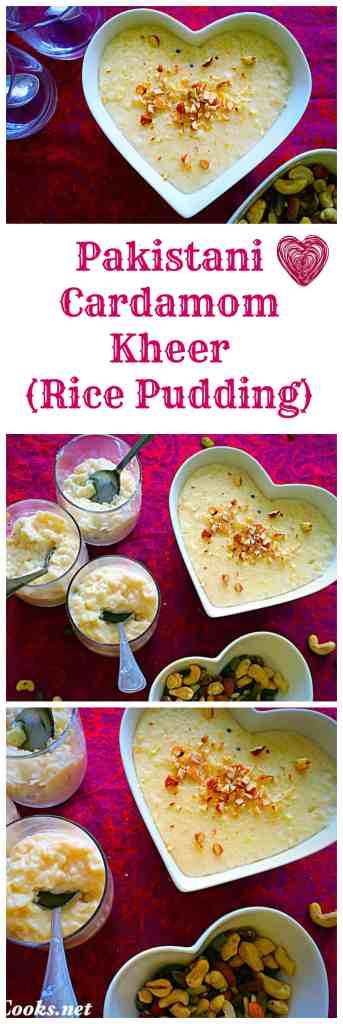 Cardamom Kheer - Pakistani Rice Pudding @ fatimacooks.net