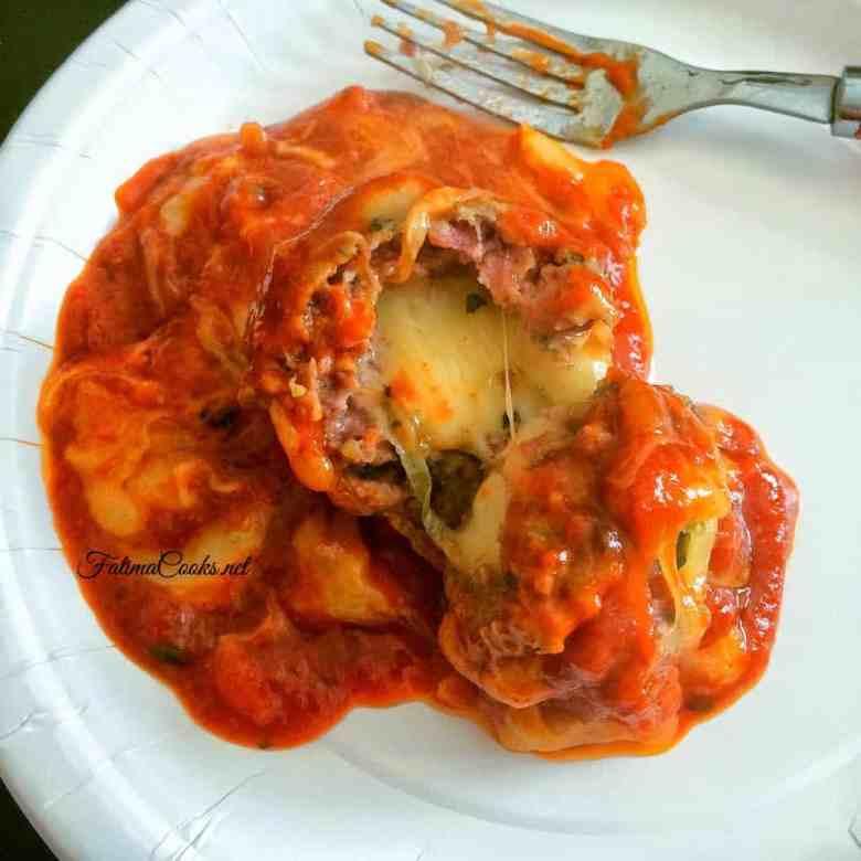 Cheese Stuffed Cheesy Meatballs - Recipe @ FatimaCooks.net