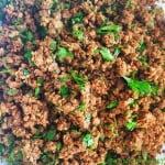 Minced Lamb Filling for Samosas, Spring Rolls, Sandwiches etc - recipe @ FatimaCooks.net