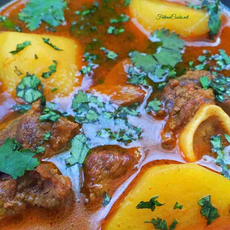 Aloo Gosht Shorba - Pakistani Potato and Lamb Curry - Recipe @ FatimaCooks.net