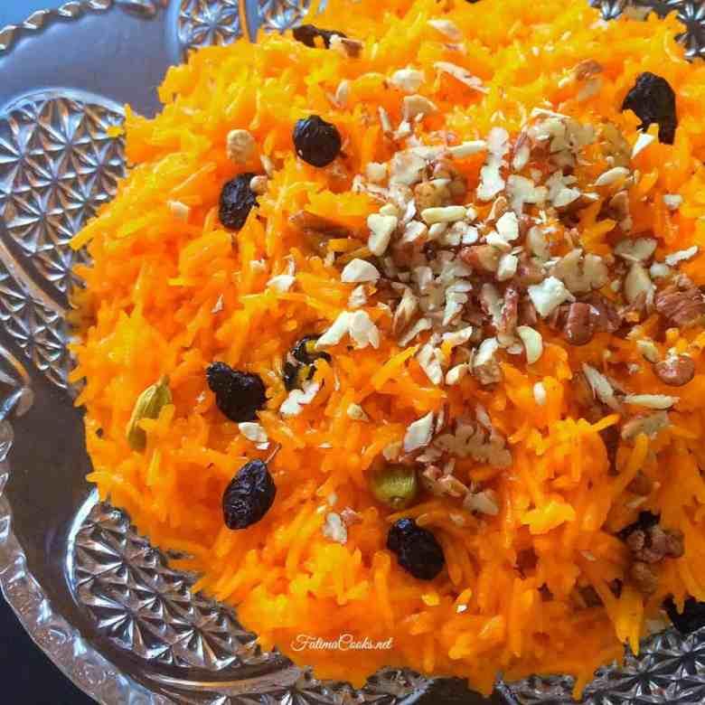 Zarda - Sweet Pakistani Rice Laced With Nuts, Raisins & Cardamom
