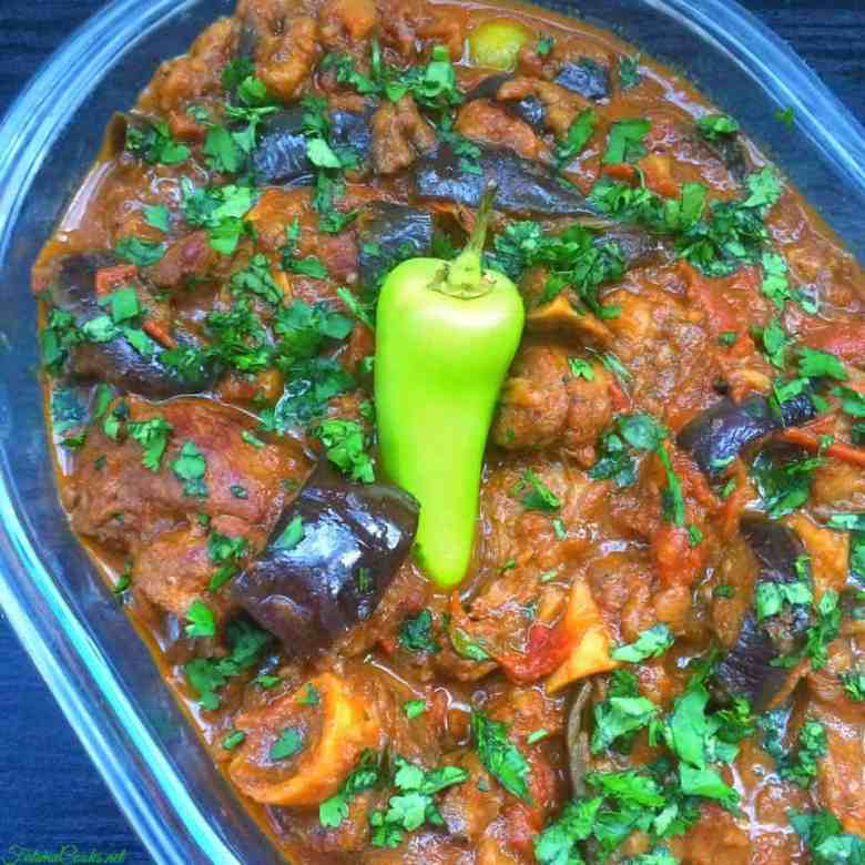 Baingan Gosht - Aubergine and Lamb Curry - Fatima Cooks