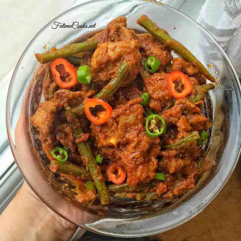 Phali Gosht - Green Bean and Meat Curry