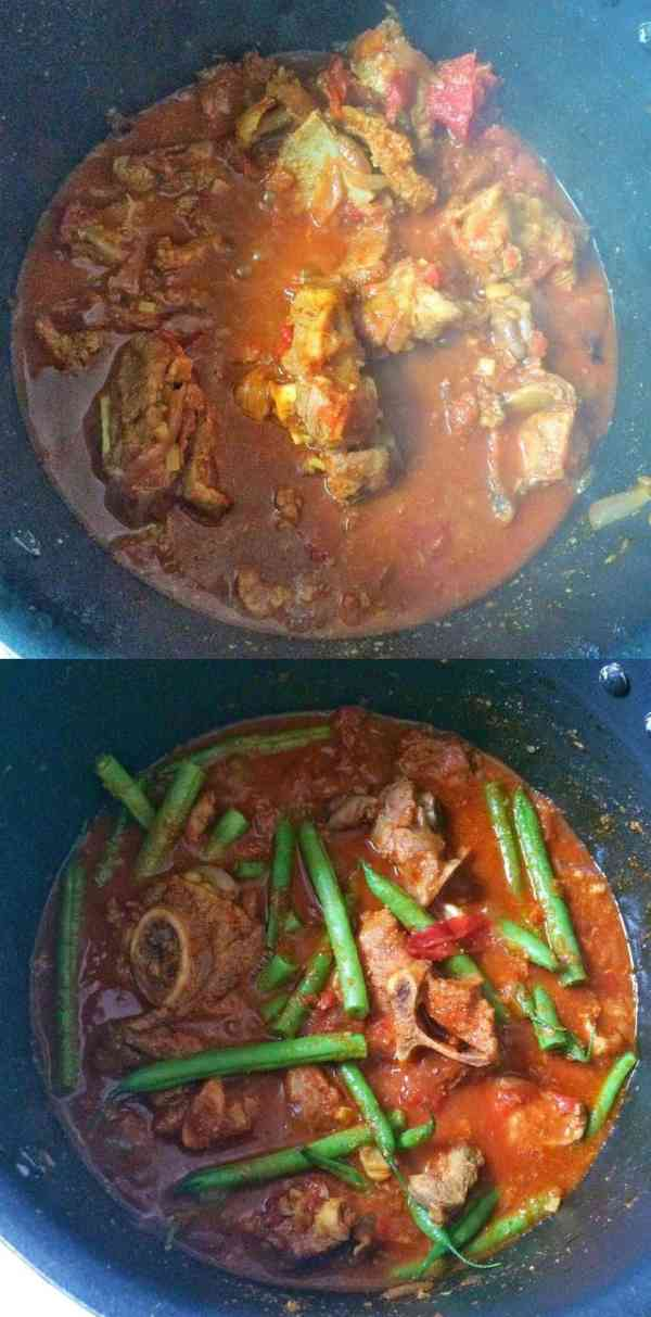 Phali Gosht - Green Beans and Meat Curry