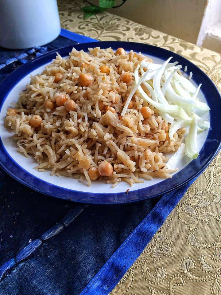 Chana Pilau - Pakistani Chickpeas and Rice