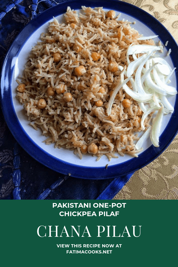 Chana Pilau - Pakistani Chickpea Pilaf