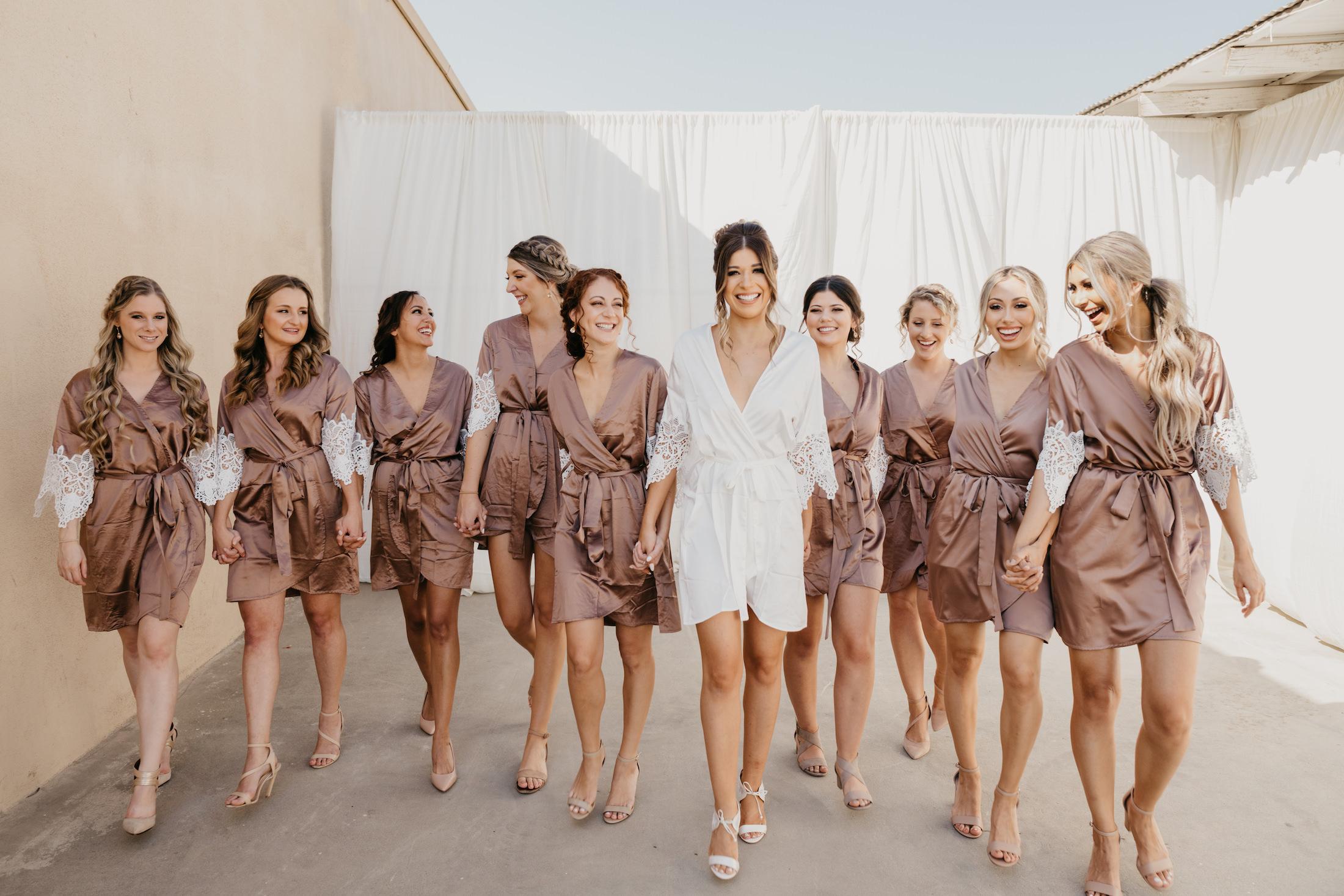 Bride and bridesmaids, image by Fatima Elreda Photo