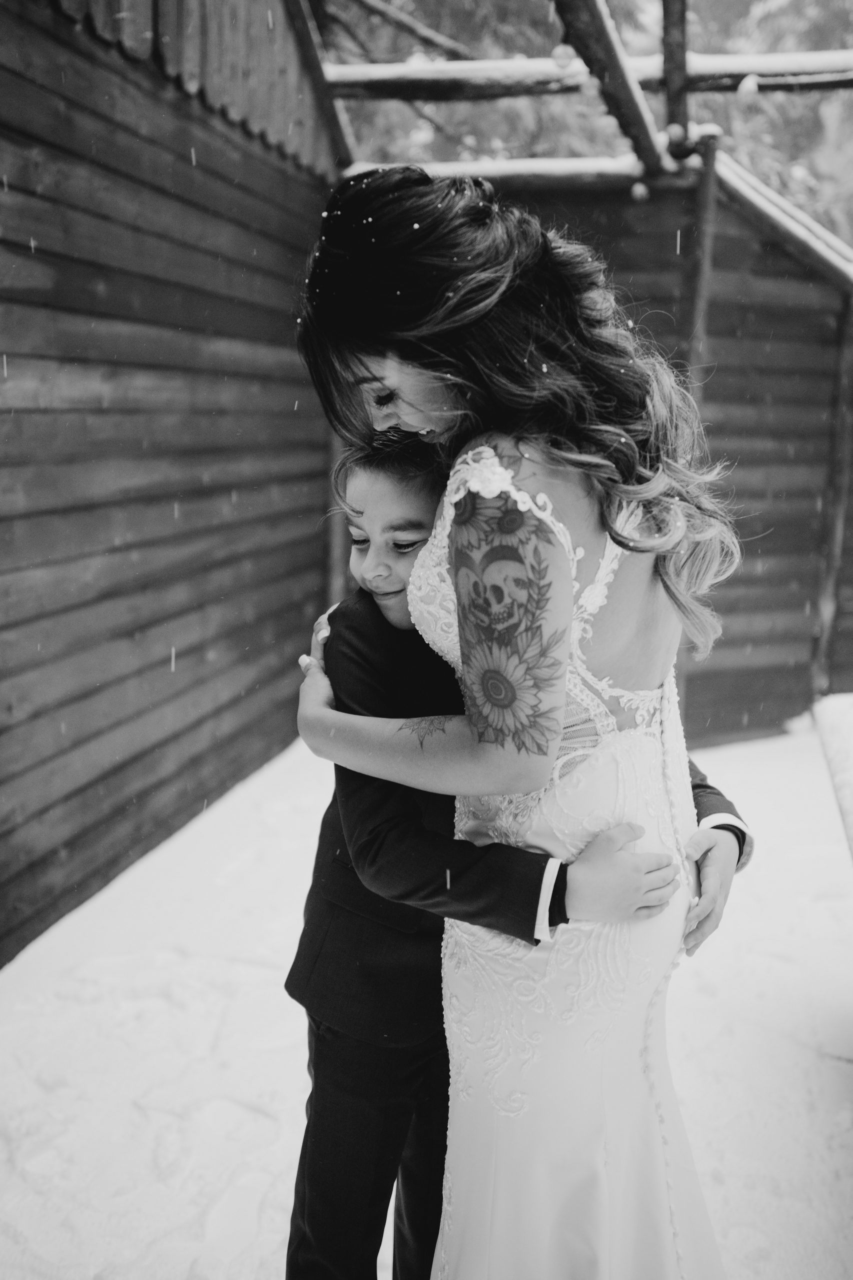Bride and her son, image by Fatima Elreda Photo