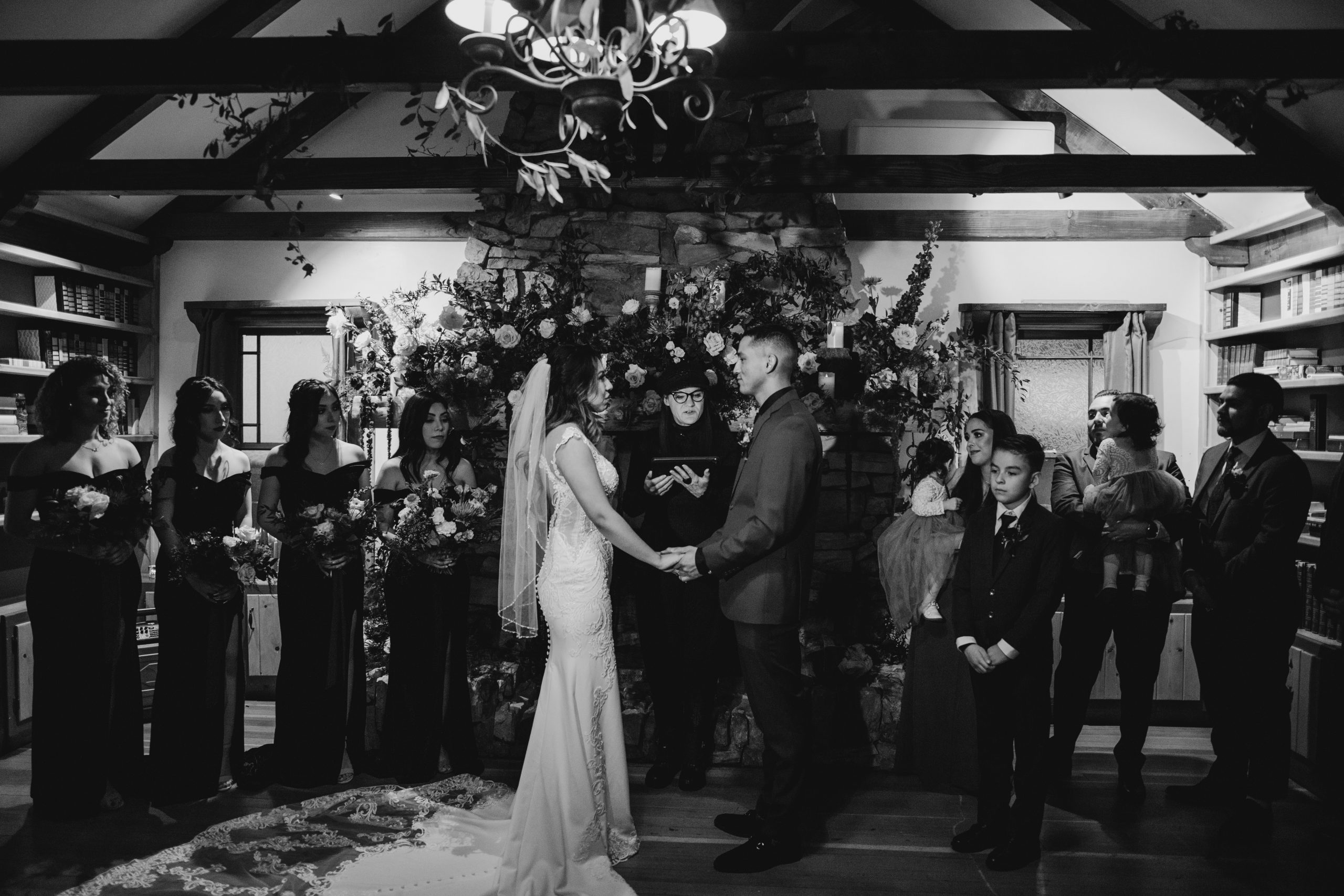 Arrowhead Pine Rose Wedding Ceremony, image by Fatima Elreda Photo