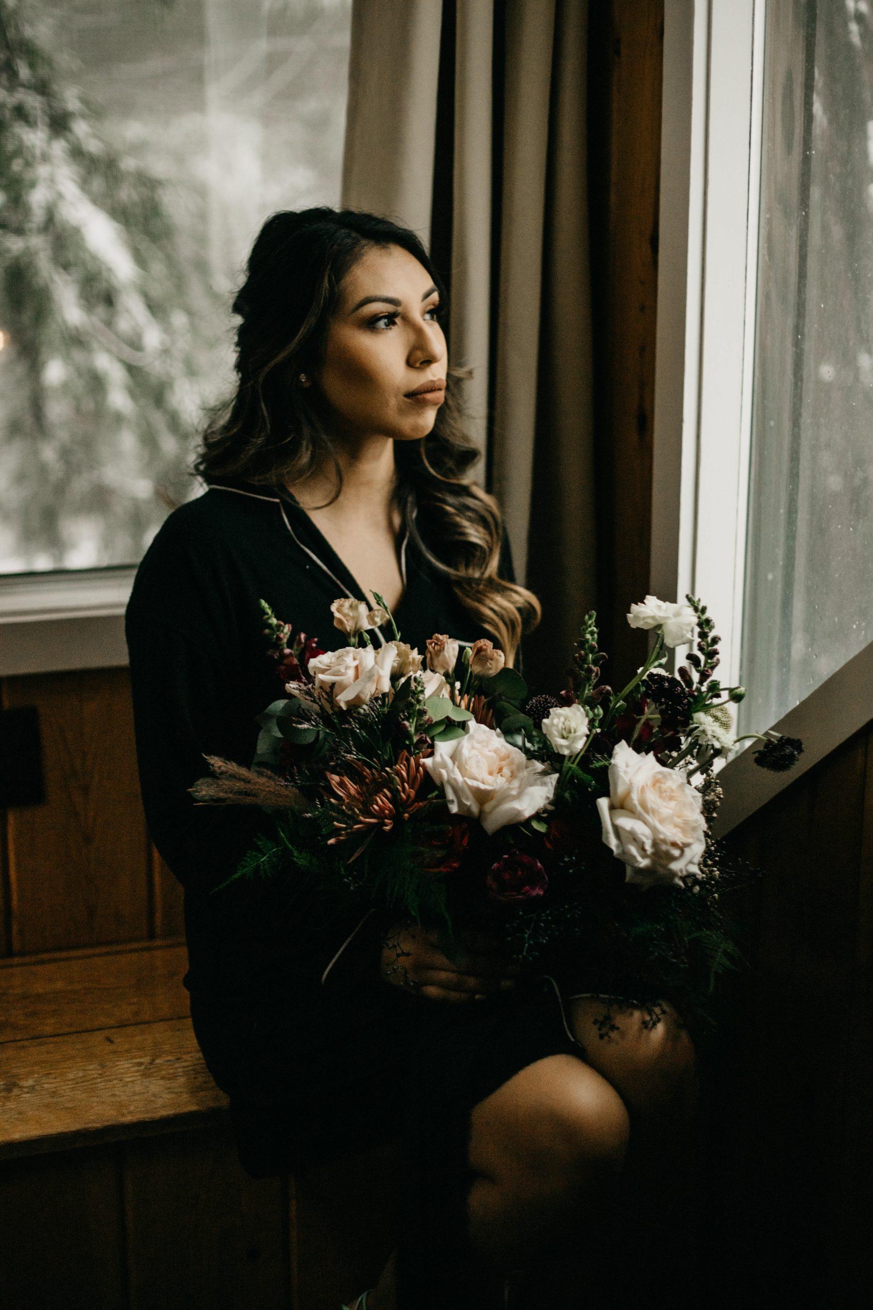 Arrowhead Pine Rose Wedding Bride Getting Ready, image by Fatima Elreda Photo