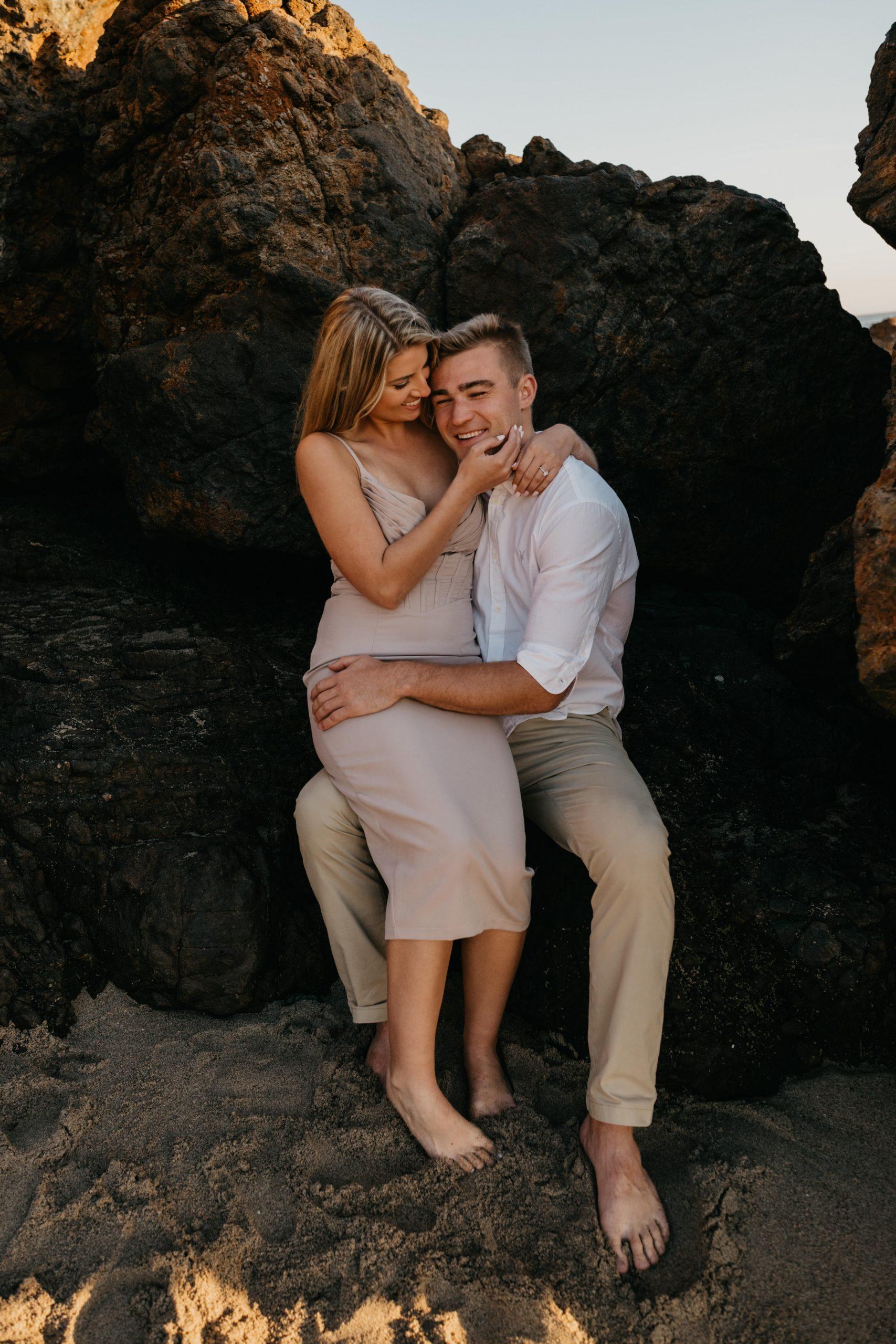 Point Dume Engagement Photoshoot, image by Fatima Elreda Photo