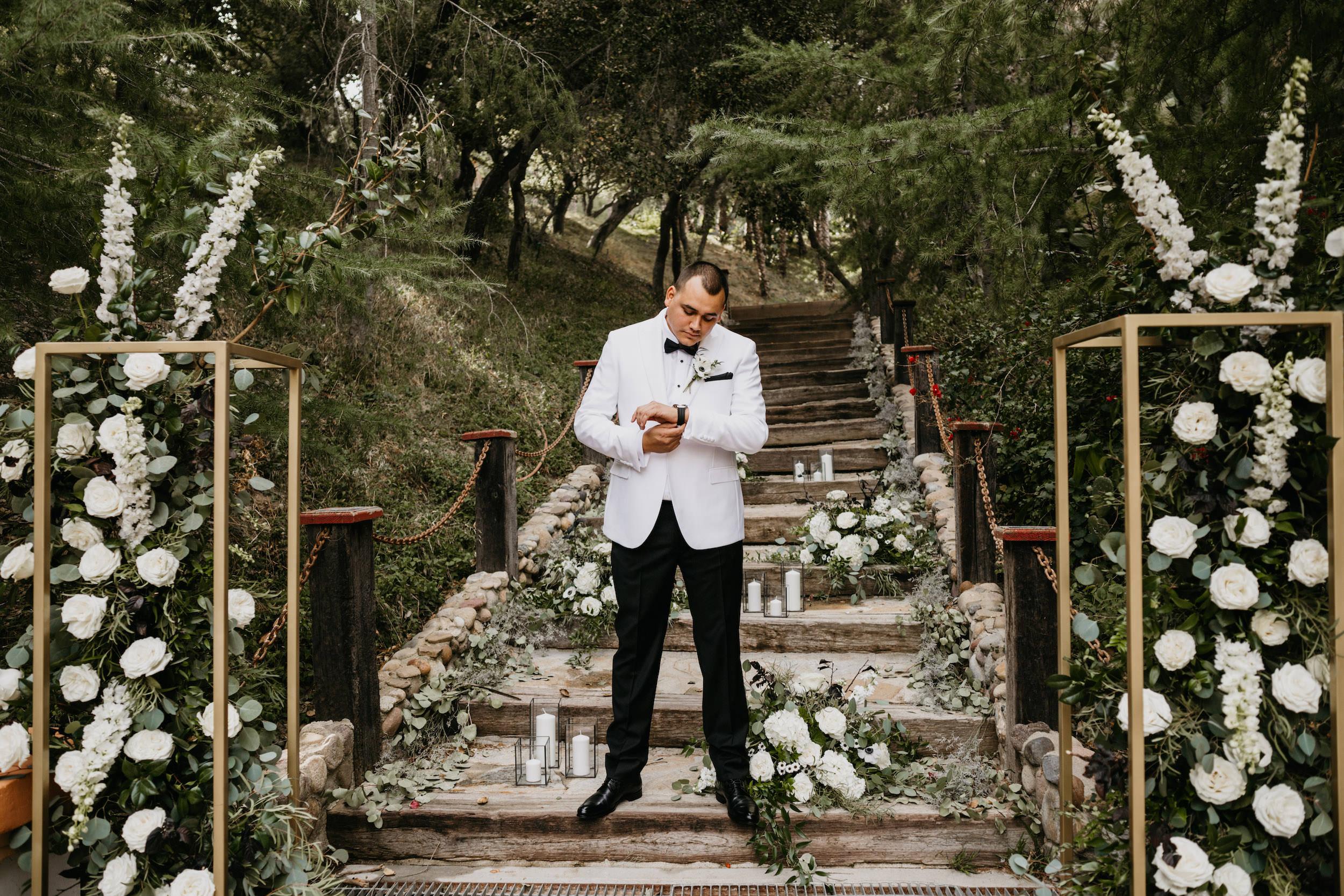 Groom Portrait in Rancho Las Lomas Wedding, image by Fatima Elreda Photo
