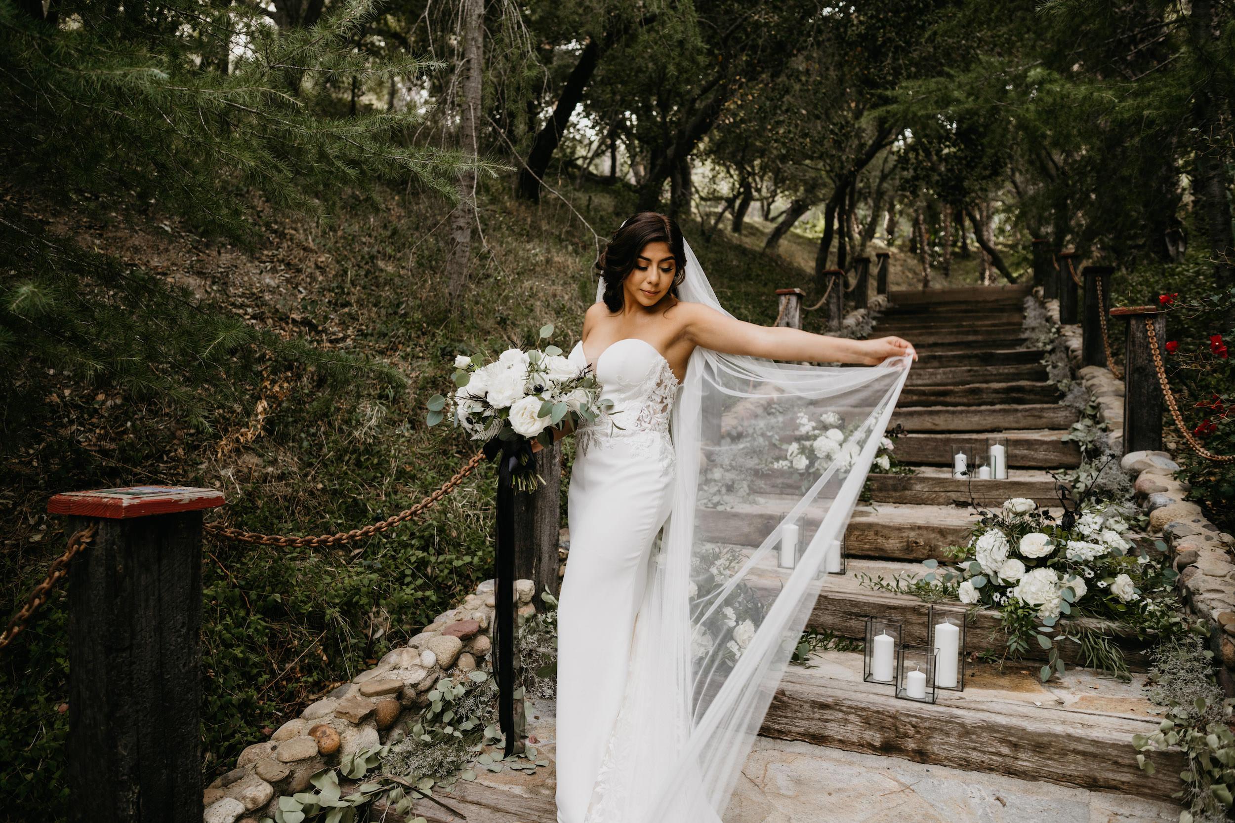 Bride Portrait in Rancho Las Lomas Wedding, image by Fatima Elreda Photo