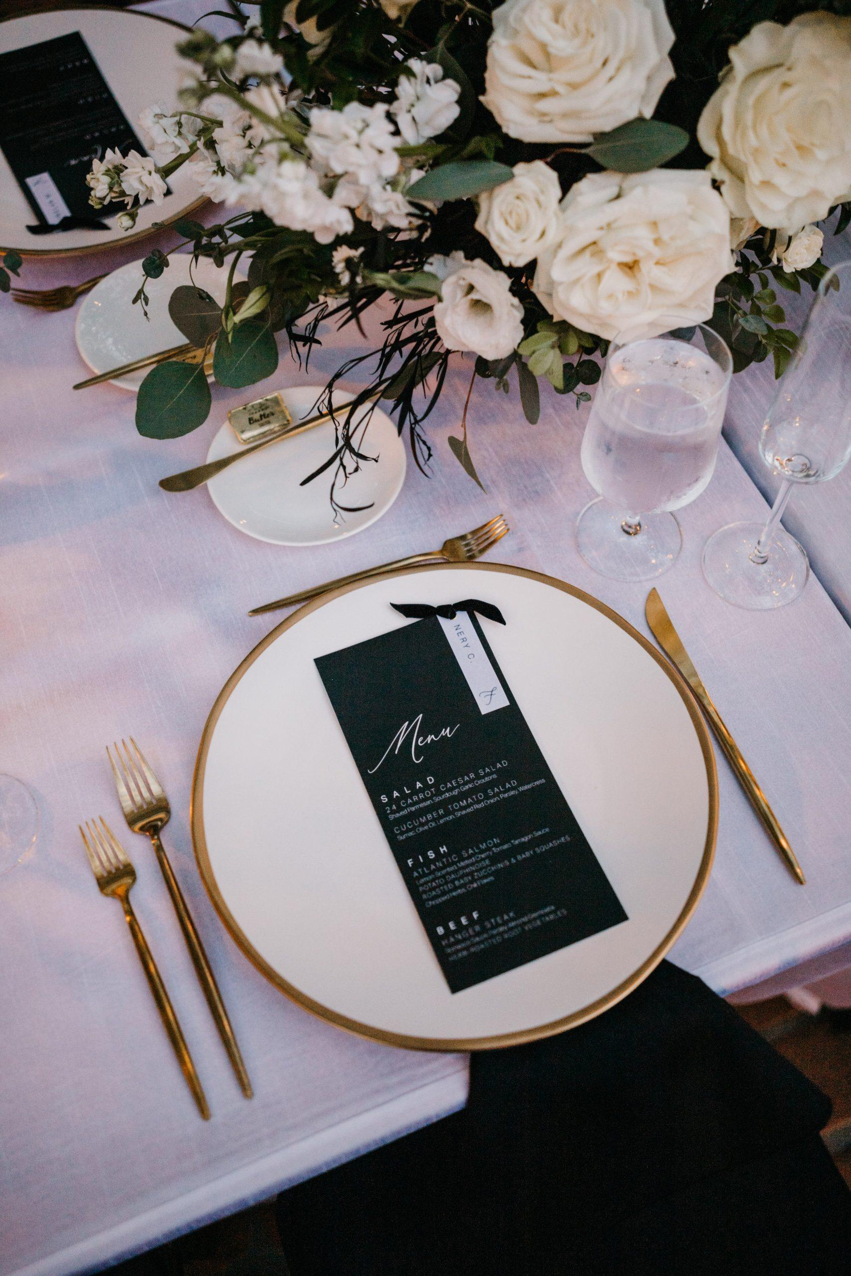 Rancho Las Lomas Wedding Reception Table Details, image by Fatima Elreda Photo