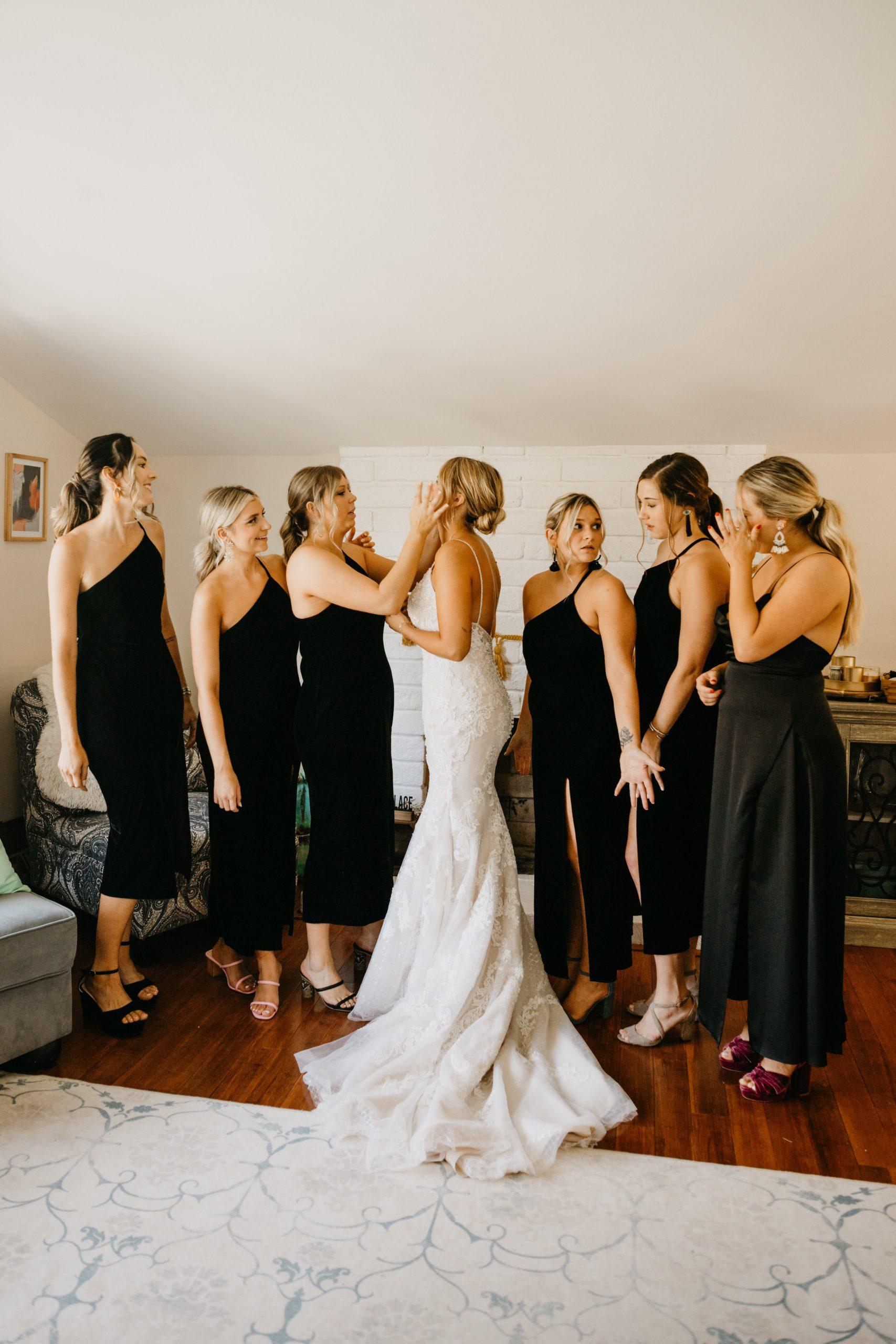 Bridesmaids dress reveal, image by Fatima Elreda Photo