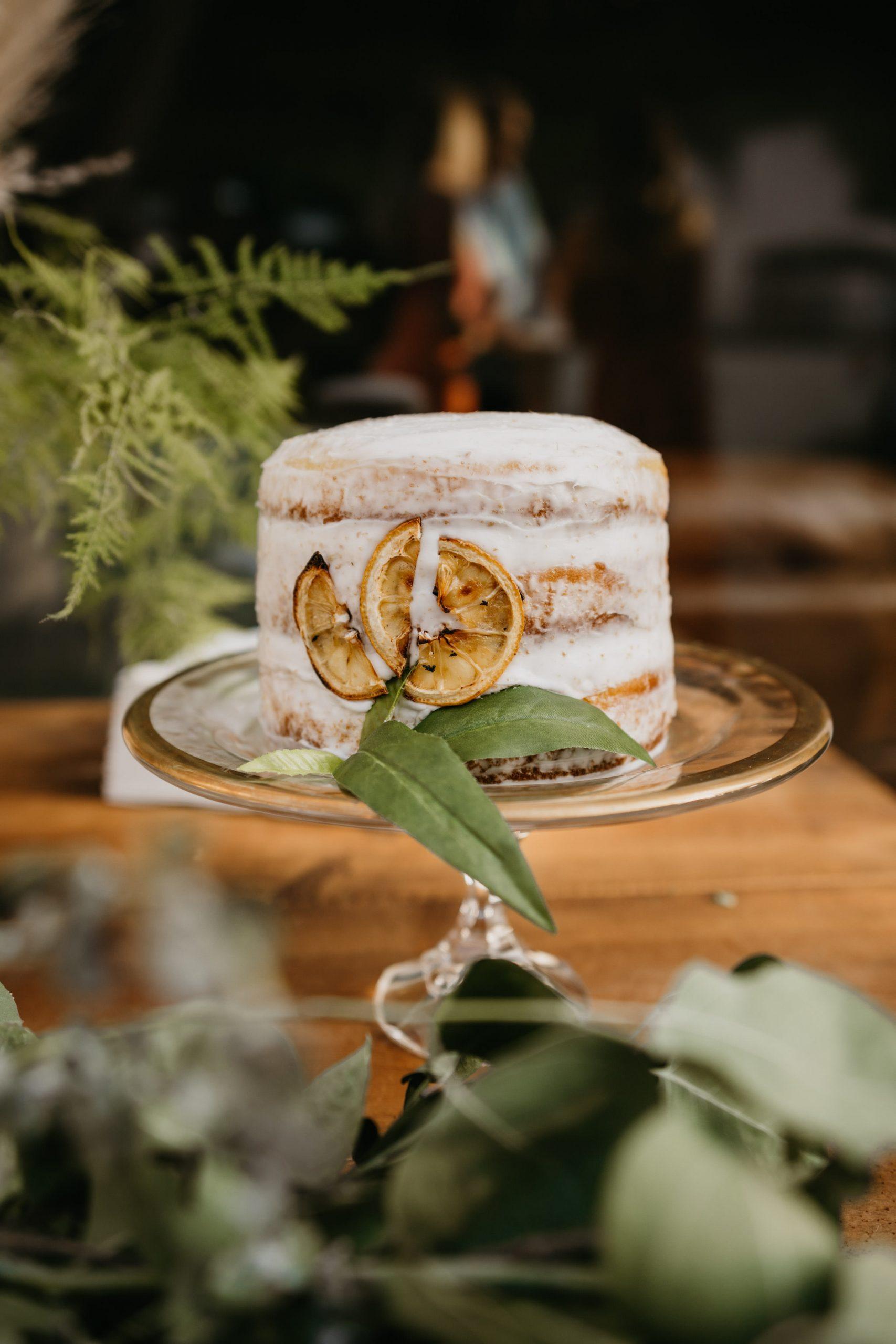 Wedding cake photo in Laguna Beach Backyard Wedding, image by Fatima Elreda Photo