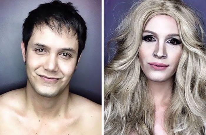 Sem Photoshop! Homem se transforma nas divas de Hollywood usando maquiagem