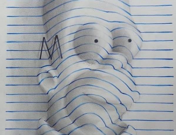 Adolescente cria desenhos com efeito 3D que parecem sair do papel