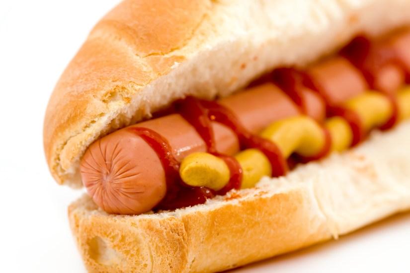 delicious hot dog studio isolated over white