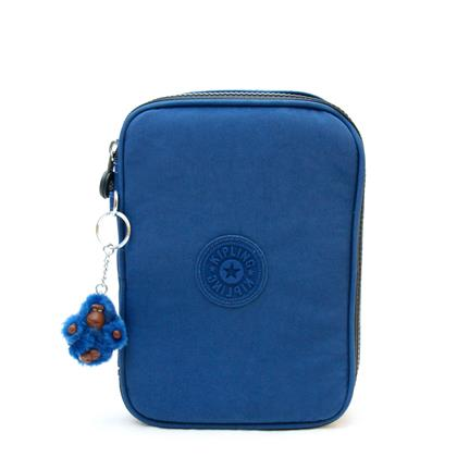 Estojo-grande-azul-indigo-Cobalt-Blue-100-PENS-Kipling-63797