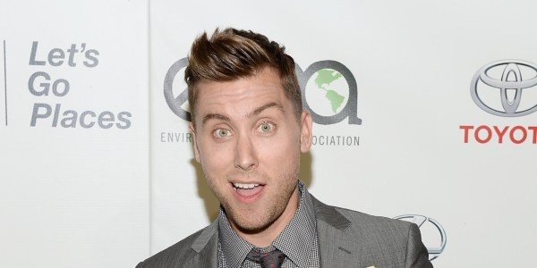 BURBANK, CA - OCTOBER 19: Actor Lance Bass encourages people to love food more and waste it less, by sharing his favorite food as part of the Glad Food Protection #saveitsunday movement at the 23rd Annual Environmental Media Association Awards at Warner Bros. Studios on October 19, 2013 in Burbank, California. (Photo by Michael Kovac/Getty Images for Glad Food Protection)