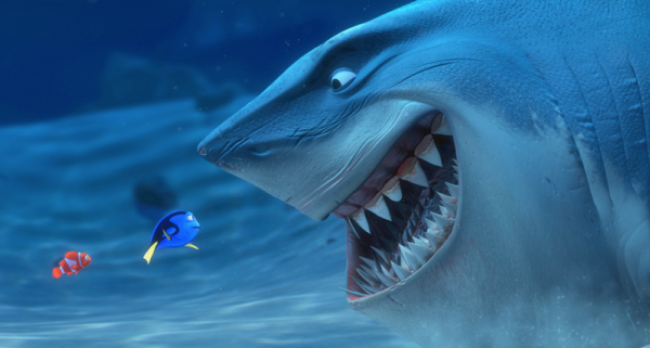 Dory-meets-Bruce-in-Finding-Nemo