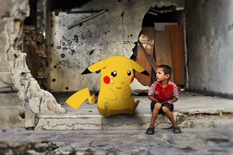 """Crianças sírias seguram Pokémon em busca de serem """"capturadas"""" e salvas"""