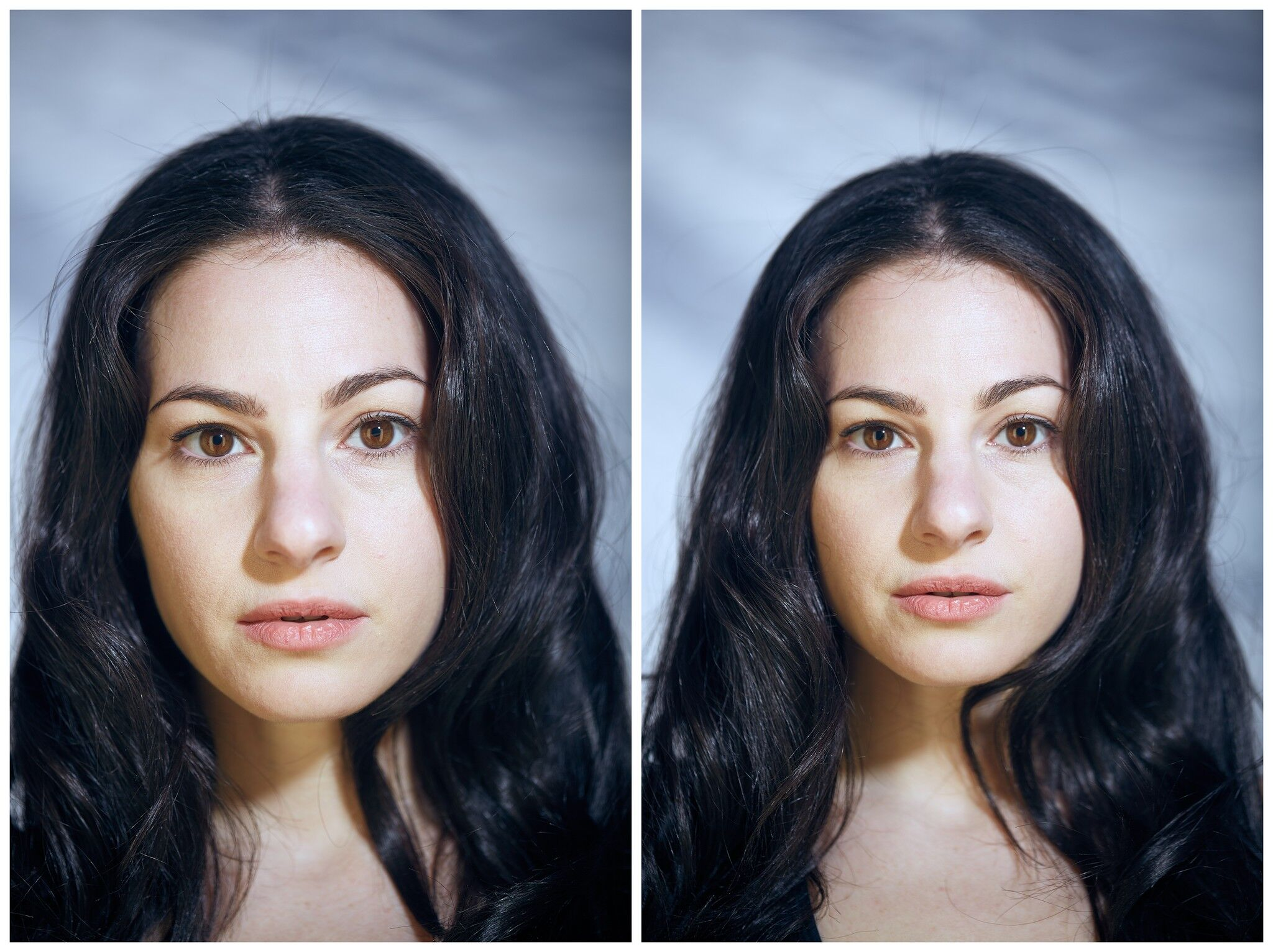 Série fotográfica mostra a diferença no rosto de uma pessoa quando ela está nua