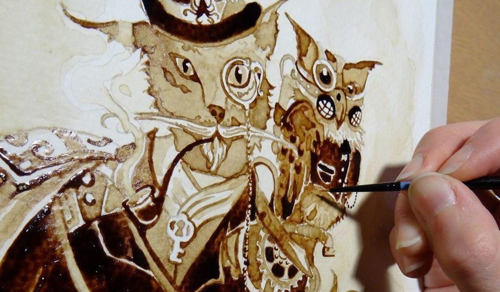 20 obras de arte que você não vai acreditar que foram feitas com café