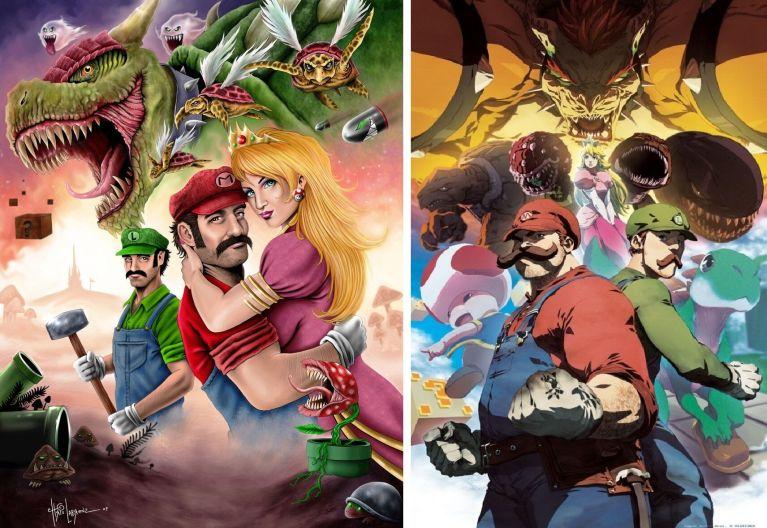 20 ilustrações que mostram o Mario de uma forma que você nunca viu