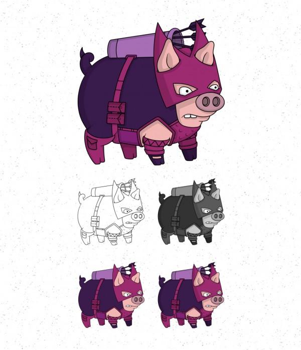 Avengers Pigs By Roni Aguiar Hawkeye 600x698, Fatos Desconhecidos