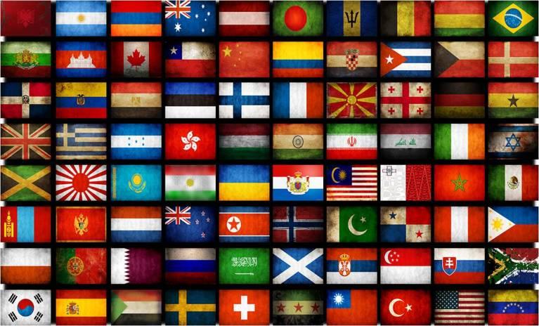 Qual símbolo mais usado nas bandeiras?