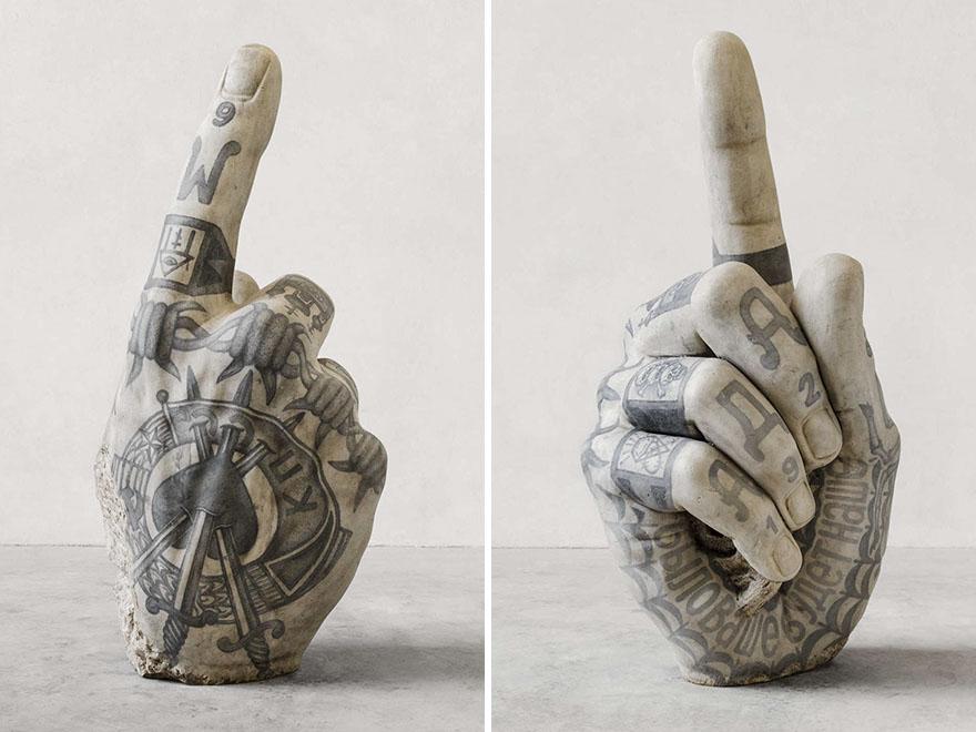 Classical Sculptures Tattoos Fabio Viale Italy 2, Fatos Desconhecidos